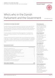 Who's who in the Danish Parliament and the Government