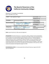 The Board of Governors of the California Community Colleges