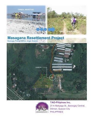 Masagana Resettlement Project - TAO-Pilipinas