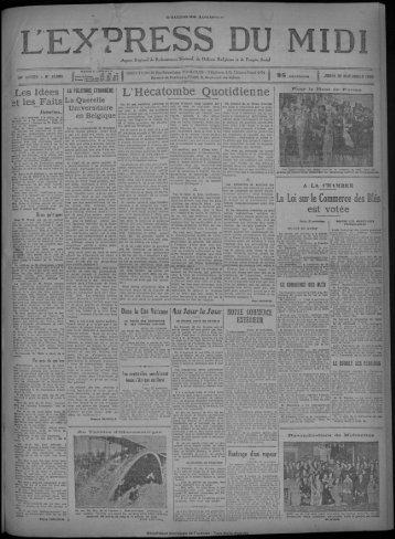 28 novembre 1929 - Bibliothèque de Toulouse