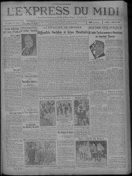 14 juillet 1930 - Presse régionale
