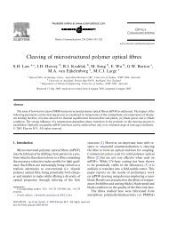 34 Cleaving Of Microstructured Polymer Optical Fibres (PDF