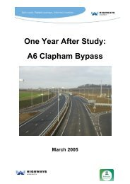One Year After Study: A6 Clapham Bypass