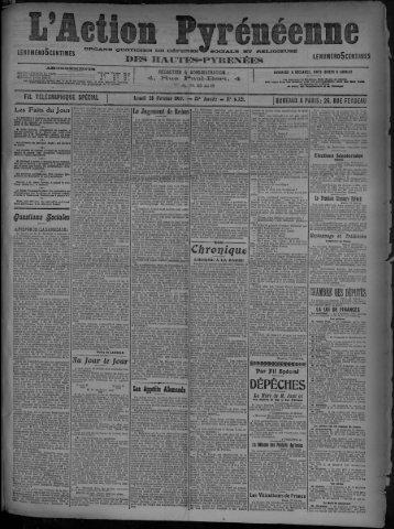 28 février 1910 - Bibliothèque de Toulouse