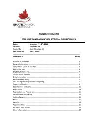 2014 skate canada manitoba sectional championships contents page
