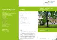 Tagesklinik - kbo-Isar-Amper-Klinikum München-Ost