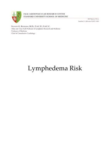 FAQs-Lymphedema-Risk.pdf - Stanford Hospital & Clinics