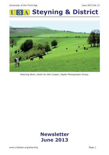 Steyning & District Newsletter June 2013 - u3asitec.org.uk