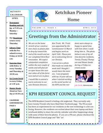 April 2013 - Alaska Department of Health and Social Services - State ...