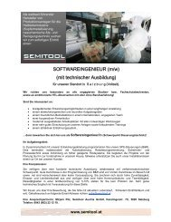 SOFTWAREINGENIEUR (m/w) (mit technischer Ausbildung)