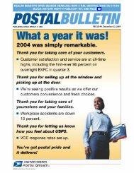 Postal Bulletin 22144 - December 23, 2004 - USPS.com
