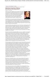 Side 1 af 2 klassik.com: Aktuelle Besprechungen, Kritiken und ...
