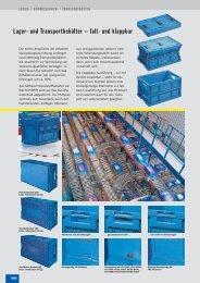 Lager- und Transportbehälter – falt- und klappbar