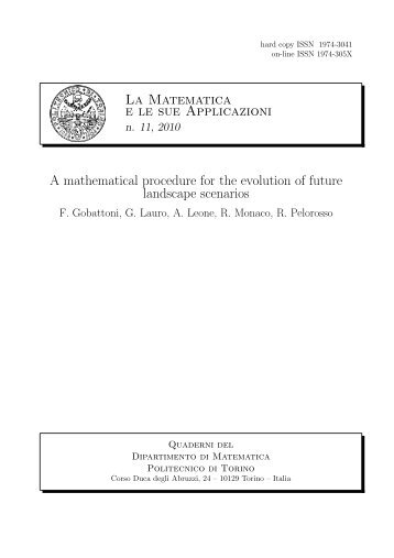 j - Dipartimento di Matematica - Politecnico di Torino