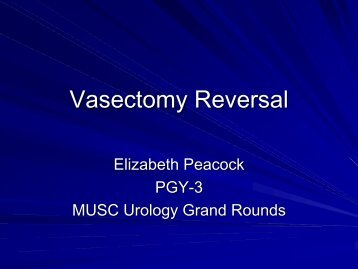 Vasectomy Reversal - Clinical Departments - Medical University of ...