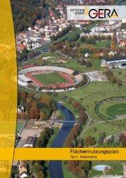FNP 2020 Gera - Teil A - Begründung - Otto-Dix-Stadt Gera - Jena