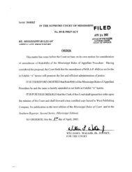 FILED - Mississippi Supreme Court