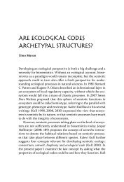 are ecoloGical codeS archetypal StructureS?