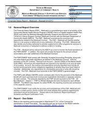 Financial Status Report - Medicaid - Instructions - State of Michigan