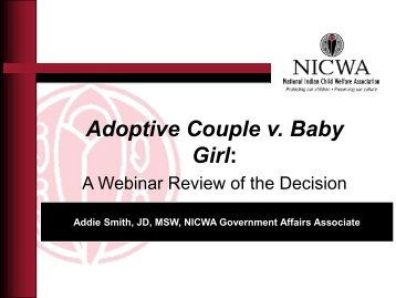 Understanding the Adoptive Couple v Baby Girl ... - State of Michigan