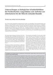 Untersuchungen zu biologischen Schadstoffeffekten bei ...
