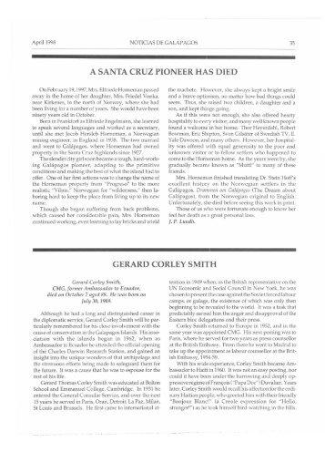 Obituary: Gerard Corley Smith - Aquatic Commons