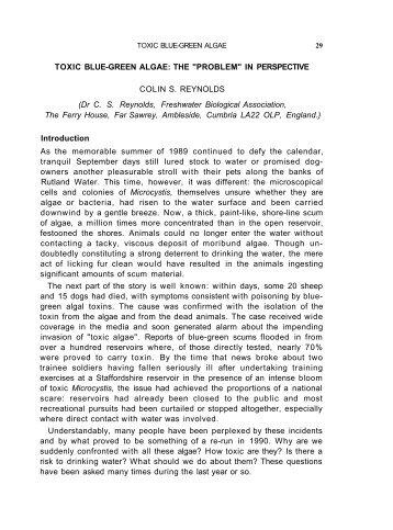 TOXIC BLUE-GREEN ALGAE - Freshwater Biological Association