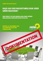 1312-Gruen-Wachsen - Bündnis 90/Die Grünen im Landtag NRW
