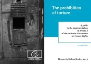 The prohibition of torture - European Court of Human Rights