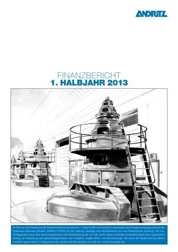 FINANZBERICHT 1. HALBJAHR 2013