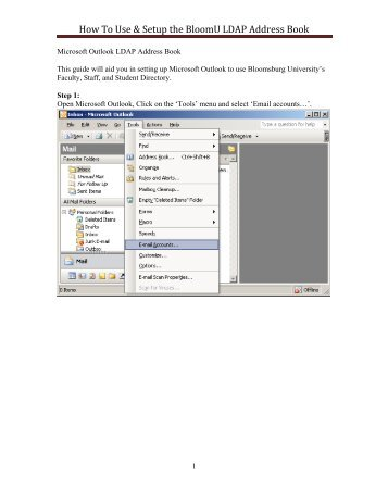 How To Use & Setup the BloomU LDAP Address Book - Bloomsburg ...