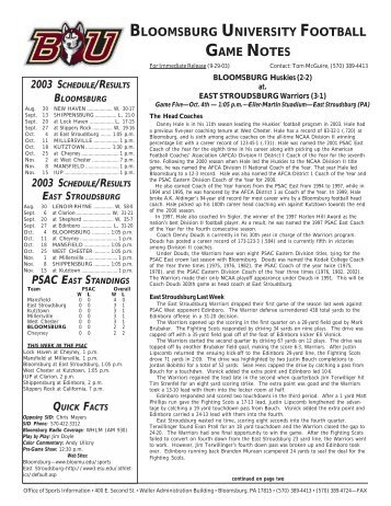 2002 FB Release Template - Bloomsburg University
