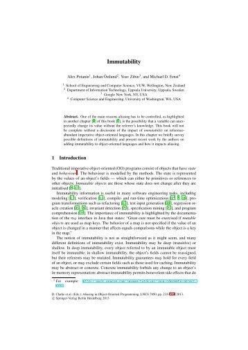 Immutability - ECS | Victoria University of Wellington