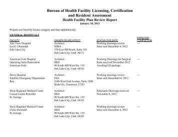 January, 2013 - Utah Department of Health
