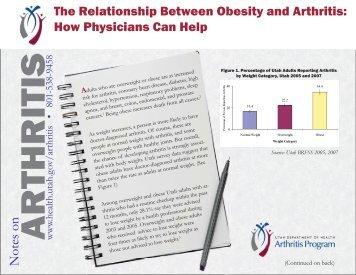 Arthritis and Obesity - Utah Department of Health - Utah.gov