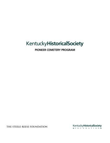 PIONEER CEMETERY PROGRAM - Kentucky Historical Society