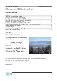 Ausgabe Dezember 2009 - The Informix Zone
