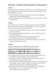 Mathematik * Textaufgaben (Mischungsaufgaben) für ...