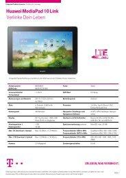 Huawei MediaPad 10 Link Verlinke Dein Leben