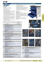 Werkstattwagen mit 7 TCS-Werkzeug-Einlagen und 96 Werkzeugen