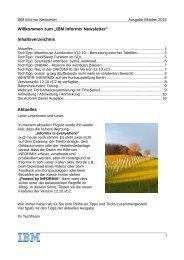 Informix Newsletter Oktober 2013 - The Informix Zone