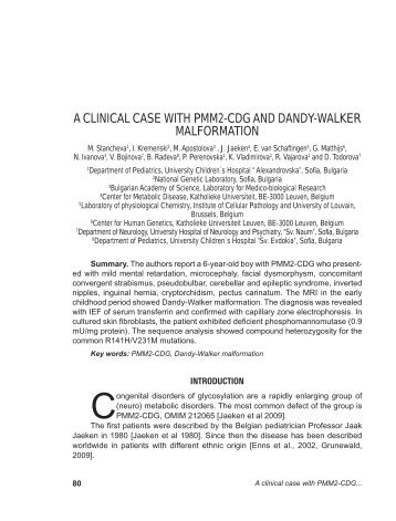 a clinical case with pmm2-cdg and dandy-walker malformation