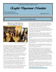 Spring 2013, Issue 2 (PDF) - College of Arts & Sciences - University ...