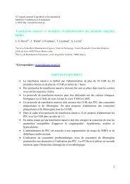STRATEGIE TRANSFUSIONNELLE