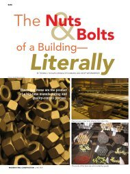 The Nuts and Bolts of a Building-Literally - Modern Steel Construction