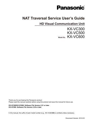 NAT Traversal Service English - Panasonic