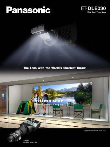 Ultra Short Throw Lens (ET-DLE030) - Panasonic