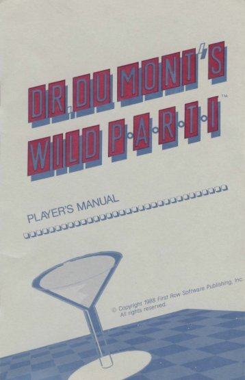 drdumont-manual - Museum of Computer Adventure Game History
