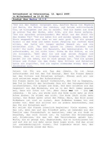 12.04 Markus 16, 1-8 Ostersonntag (PDF) Pfr