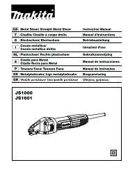 JS1000 JS1601 - Makita